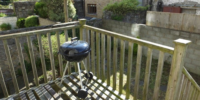 deck and rear garden