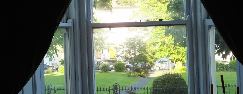 view of park from dining room