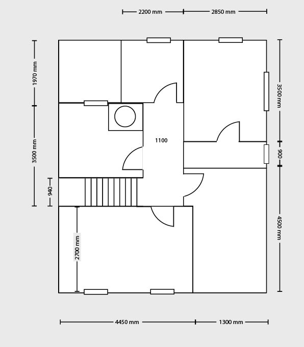 1st Flr Floor Plan 34 Castle Ct